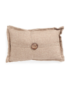 12x20 Faux Linen Button Pillow