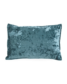14x22 Ibenz Crushed Velvet Pillow
