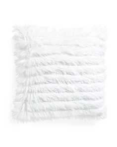 20x20 Effie Textured Faux Fur Pillow