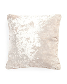 20x20 Gisla Crushed Velvet Pillow