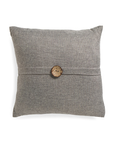 20x20 Textured Button Pillow