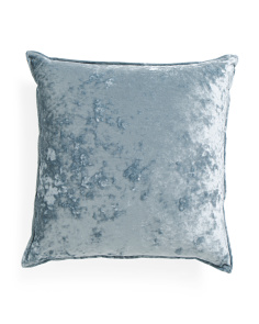 22x22 Ibenz Crushed Velvet Back Pillow