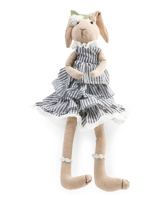 25in Bunny In Dress Decor