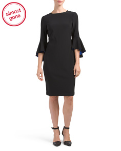 Three-quarter Bell Sleeve Dress