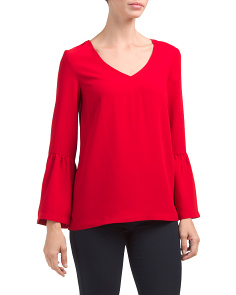 Flared Bell Sleeve Top