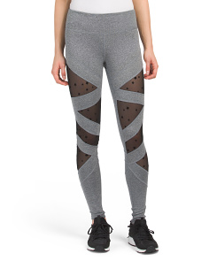 Star Mesh Inset Leggings