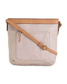 Square Leather Feed Bag