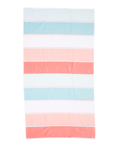 Dobby Velour Side Woven Beach Towel