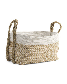Medium Striped Oval Hamper