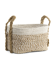 Small Striped Oval Hamper
