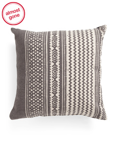 Made In India 20x20 Chevron Pillow