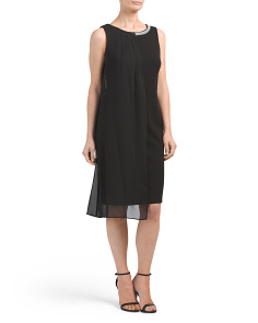 Envelope Pleat Panel Dress