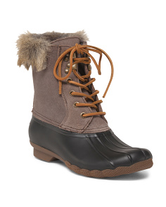 All Weather Lined Leather Duck Boots