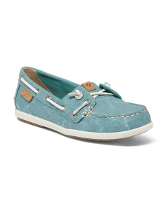 Lightweight Comfort Canvas Boat Shoes