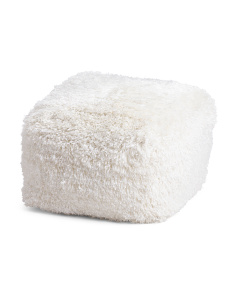 Made In India Shag Pouf