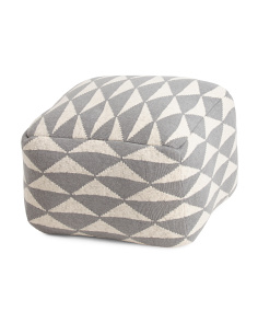 Made In India Triangle Textured Pouf