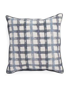 Made In USA 22x22 Block Print Pillow