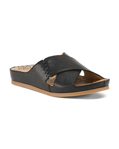 Flatform Cross Band Slide Sandals