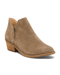 Side Split Suede Booties