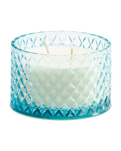 Molded Glass Candle