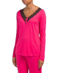 Perugia Long Sleeve Pajama Top