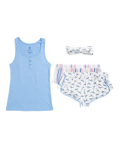4pc Tank Top Pajama Set