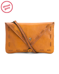Made In Italy Leather Envelope Crossbody