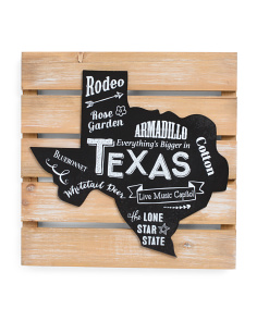 12x12 Texas Map Wall Decor