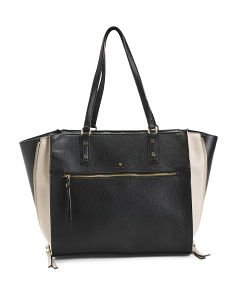 Pamela Color Block Wing Satchel