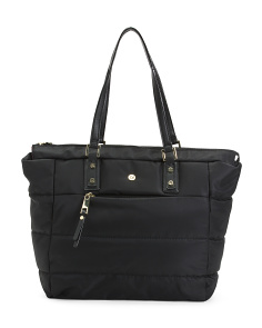 Valarie Nylon Quilted Tote