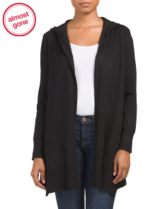 Ribbed Duster With Asymmetrical Hem