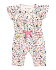 Baby Girls Floral Coveralls