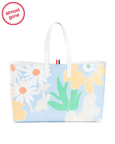 Made In Italy Floral Calf Leather Tote