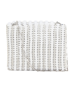 Made In Italy Chainmail Leather Tote