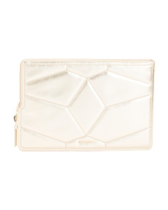 Made In Italy Calf Leather Clutch