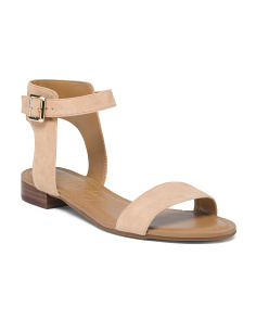 Suede One Band Flat Sandals