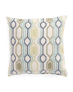 20x20 Geo Link Pattern Pillow
