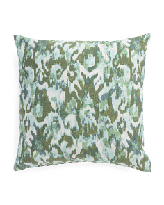 Made In USA 22x22 Rainforest Ikat Pillow