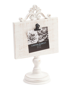 Distressed Shabby Pedestal Photo Frame
