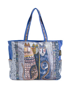Autumn Felines Oversized Tote