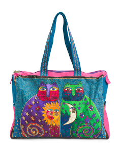 Celestial Felines Travel Bag