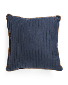 20x20 Jute Trim Pillow