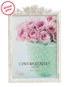 5x7 Brushed Floral Photo Frame