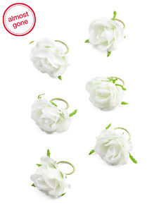 6pc French Rose Napkin Rings