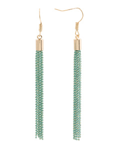 Color Coated Chain Tassel Earrings