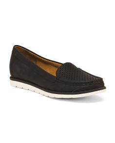 Perforated Comfort Slip On Moccasins