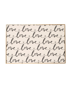 24x36 Love Love Love Canvas Wall Art