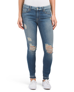 Made In USA Destructed Ankle Skinny Jeans