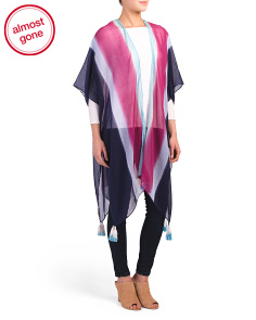 Multi Stripe Ruana