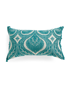 Made In Usa 17x28 Velvet Damask Pillow